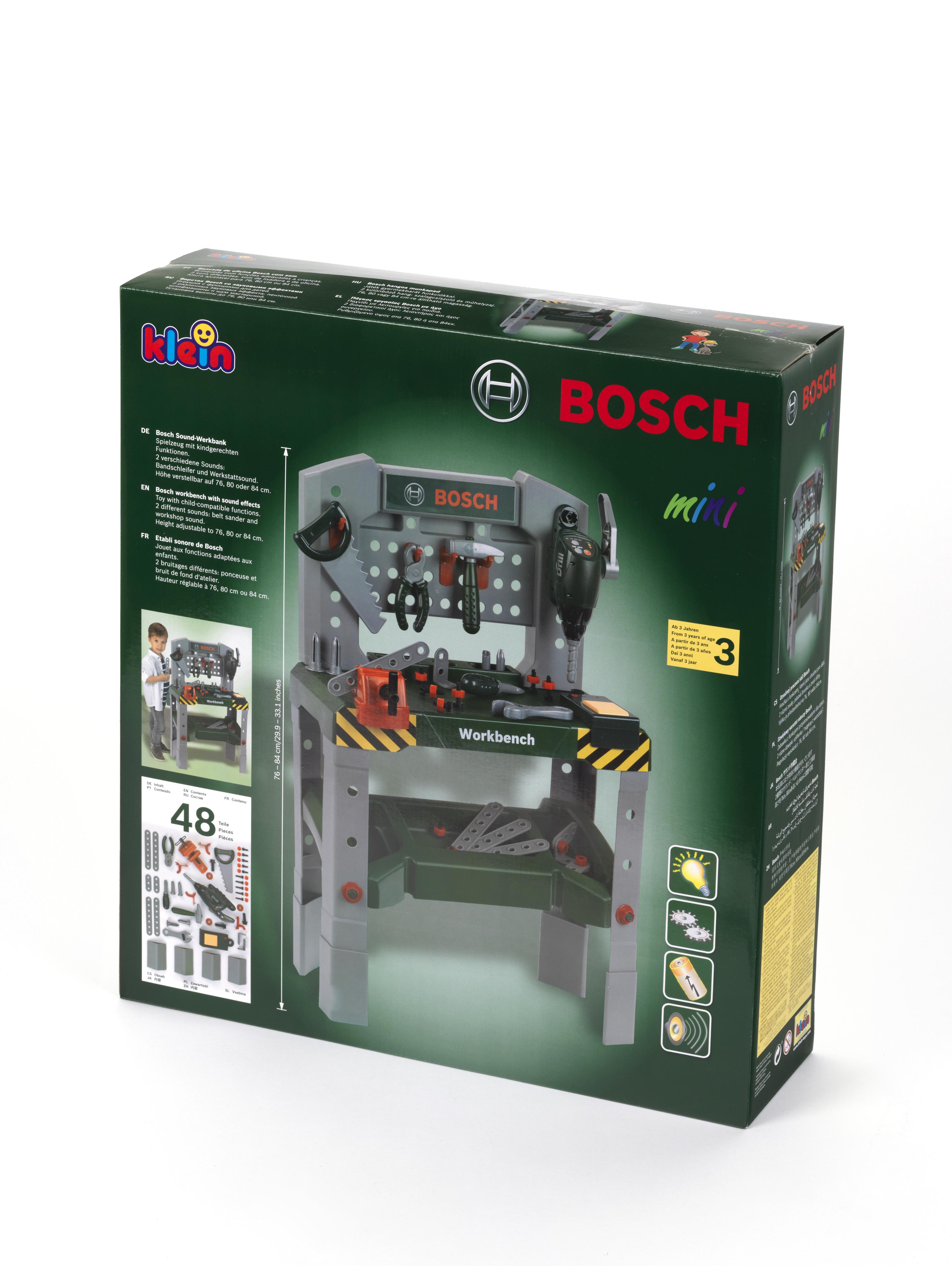 Bosch 48 – teilige Werkbank | Klein Toys