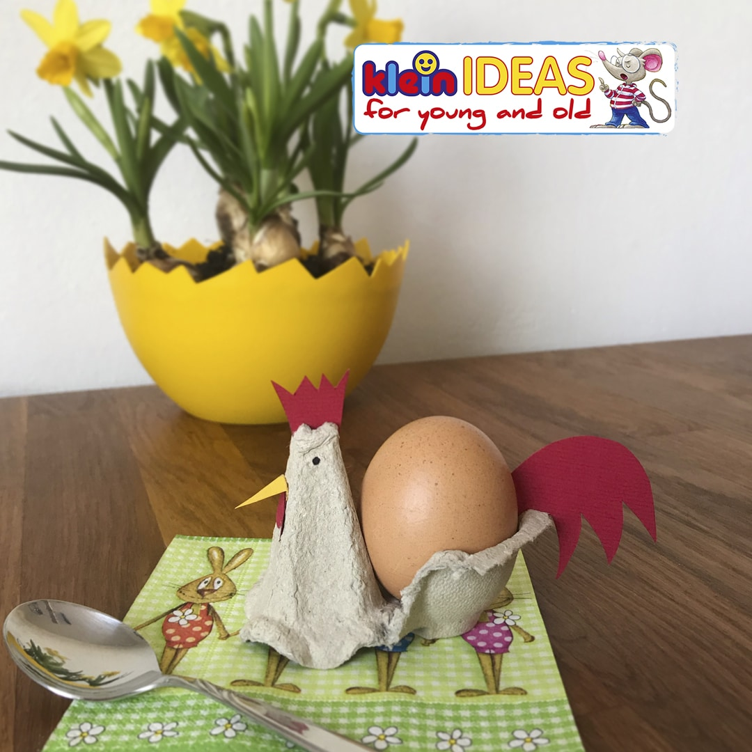 Egg cups made from egg cartons