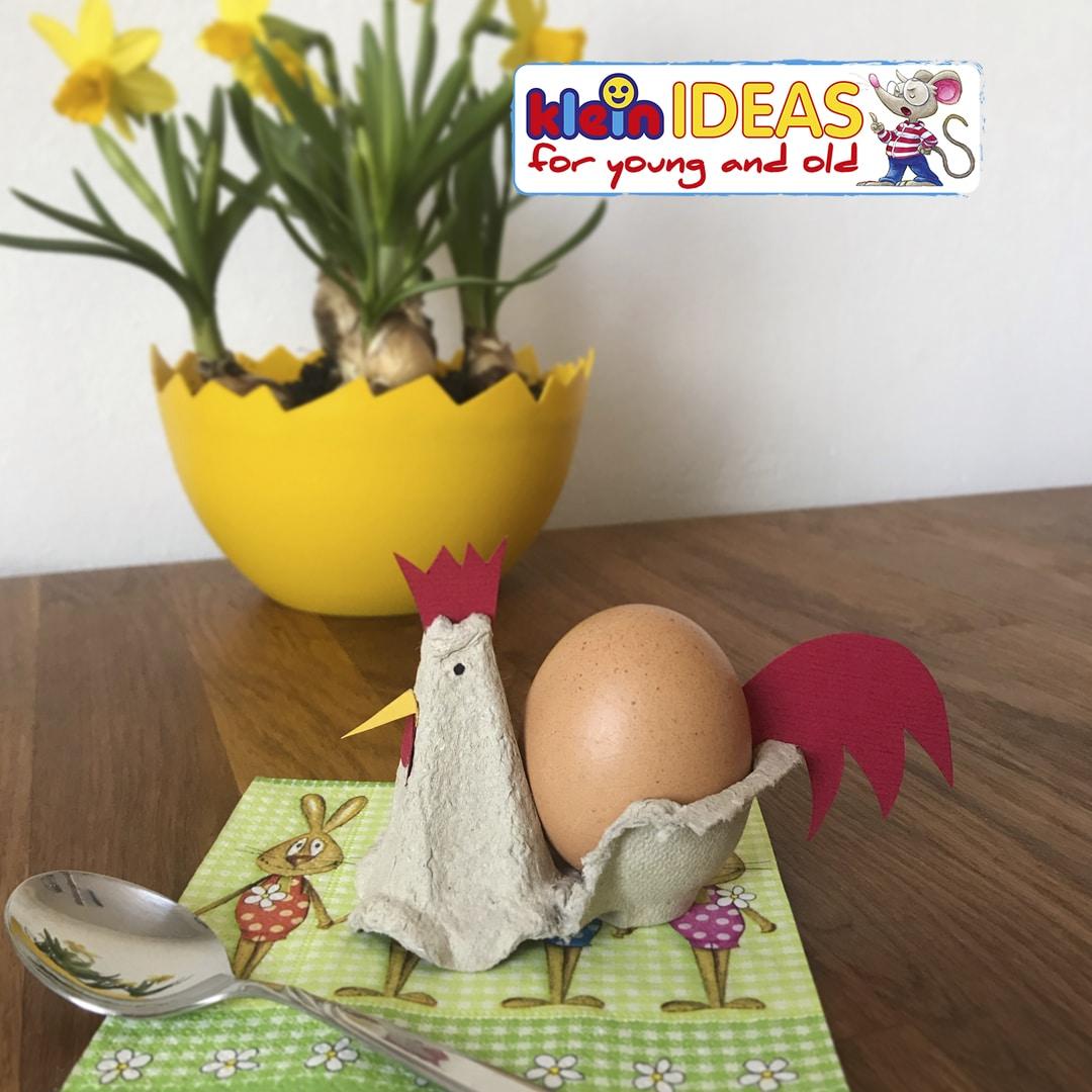 Fabriquer des coquetiers avec des boîtes d'œufs